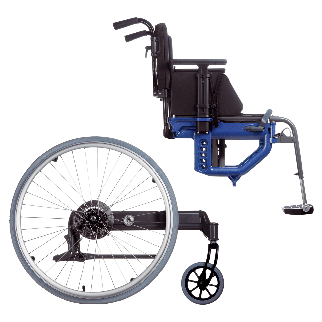 Etac Next wheelchair consists of two units – a Seat and Propulsion unit.