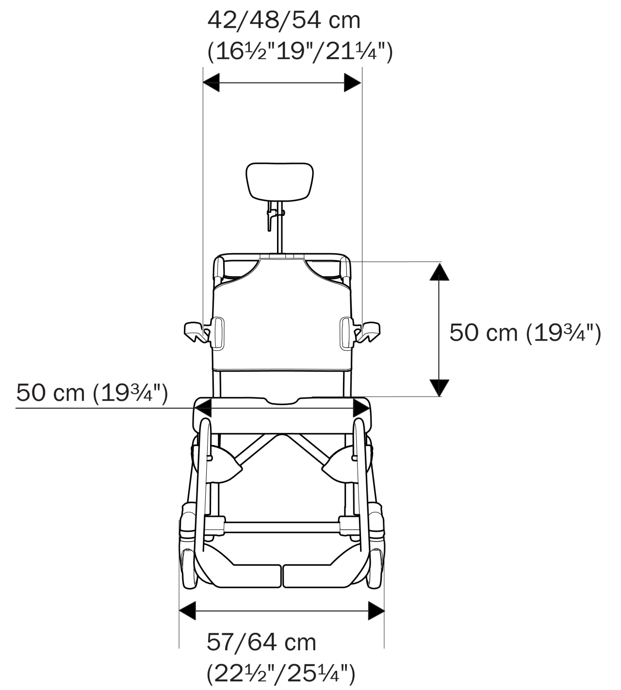 Illustration front Etac Swift Mobil Tilt-2