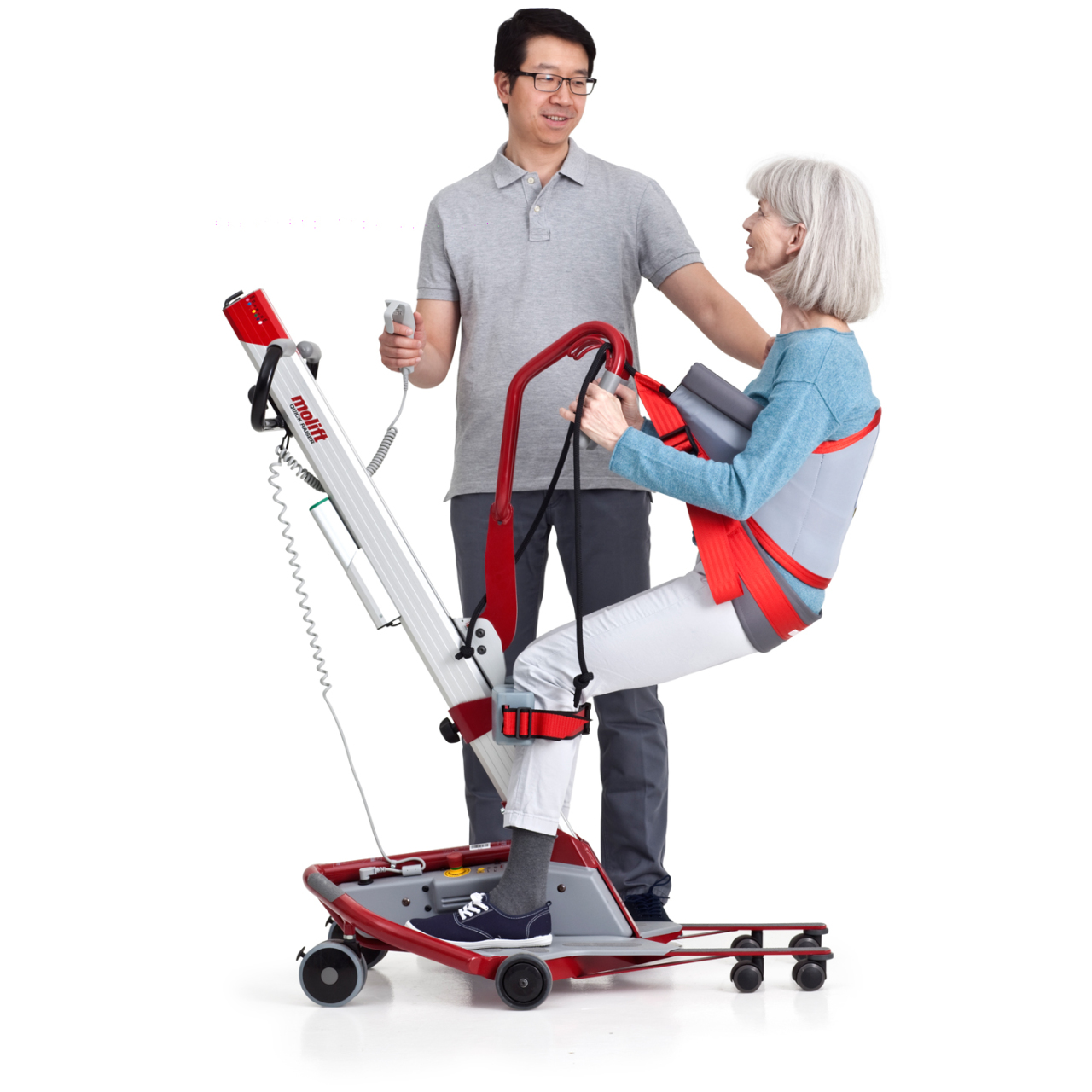 <b>Compact and easy to manoeuvre</b> Molift Quick Raiser 1 has a low weight and is stable and easy to manoeuvre.
