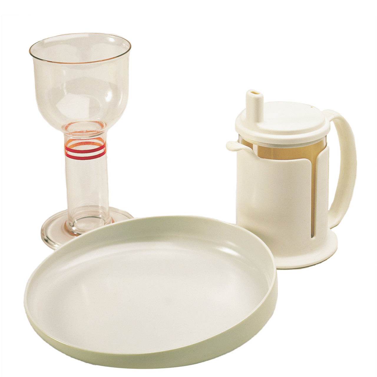 Etac Tasty glass, beaker and plate