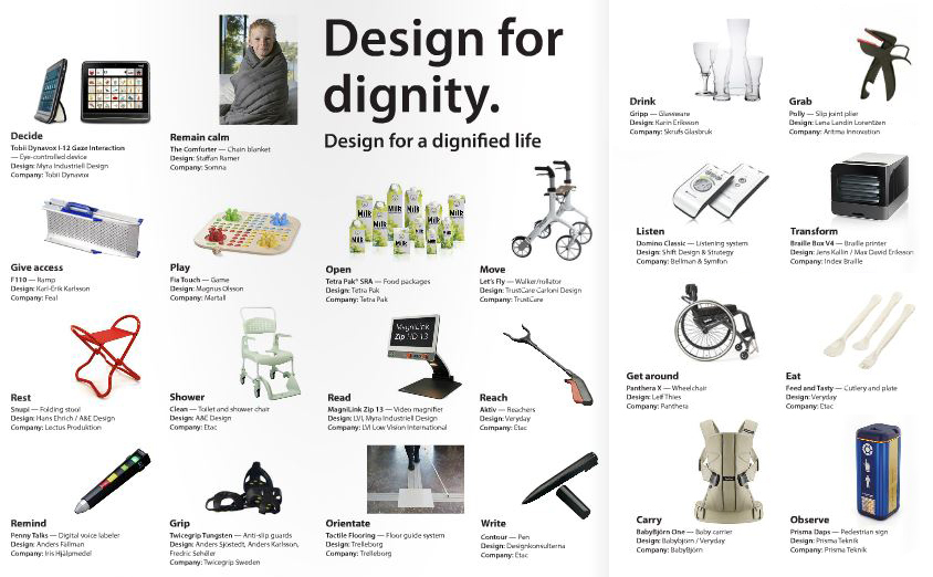 Design for Dignity - choosen products