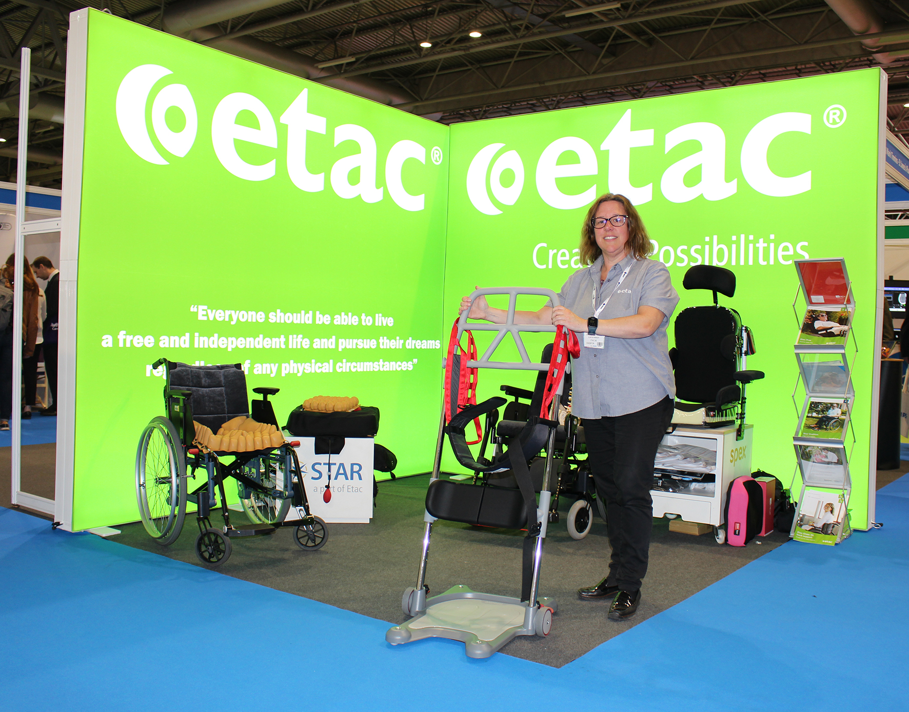Jo McConnell, Etac Education Manager, will be supporting Etac products with her clinical expertise at RCOT.